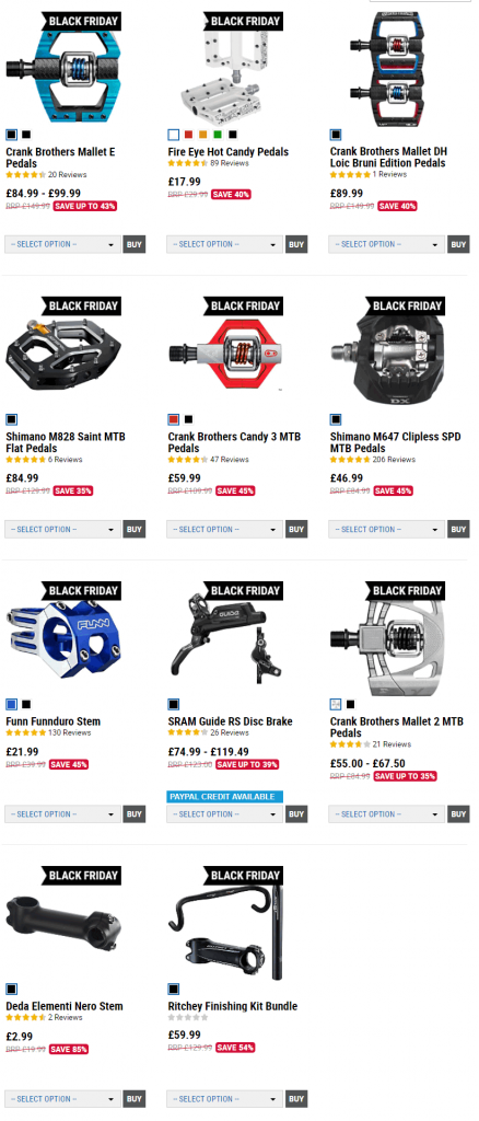 bike parts black friday deals uk