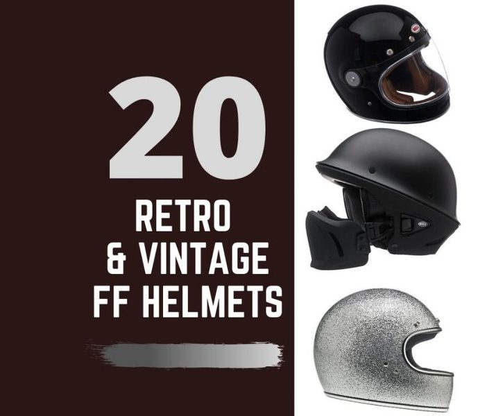 retro vintage full face helmets